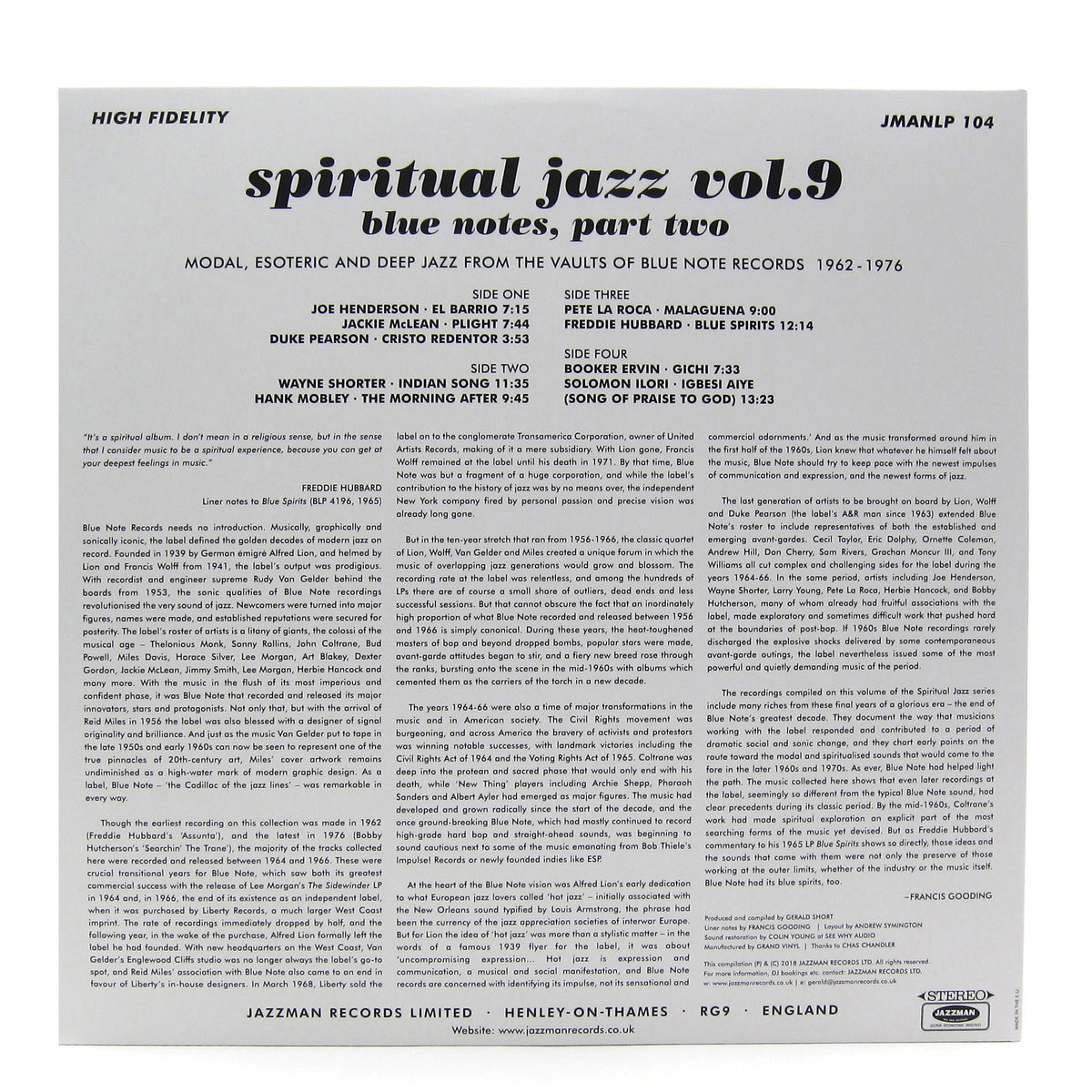 Jazzman: Spiritual Jazz 9 - Blue Notes Part Two Vinyl 2LP