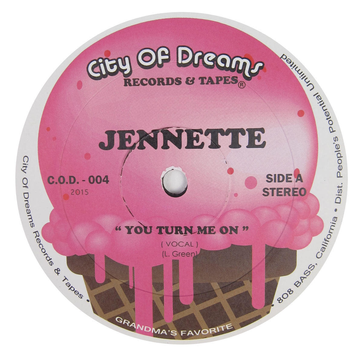 Jennette: You Turn Me On Vinyl 12""