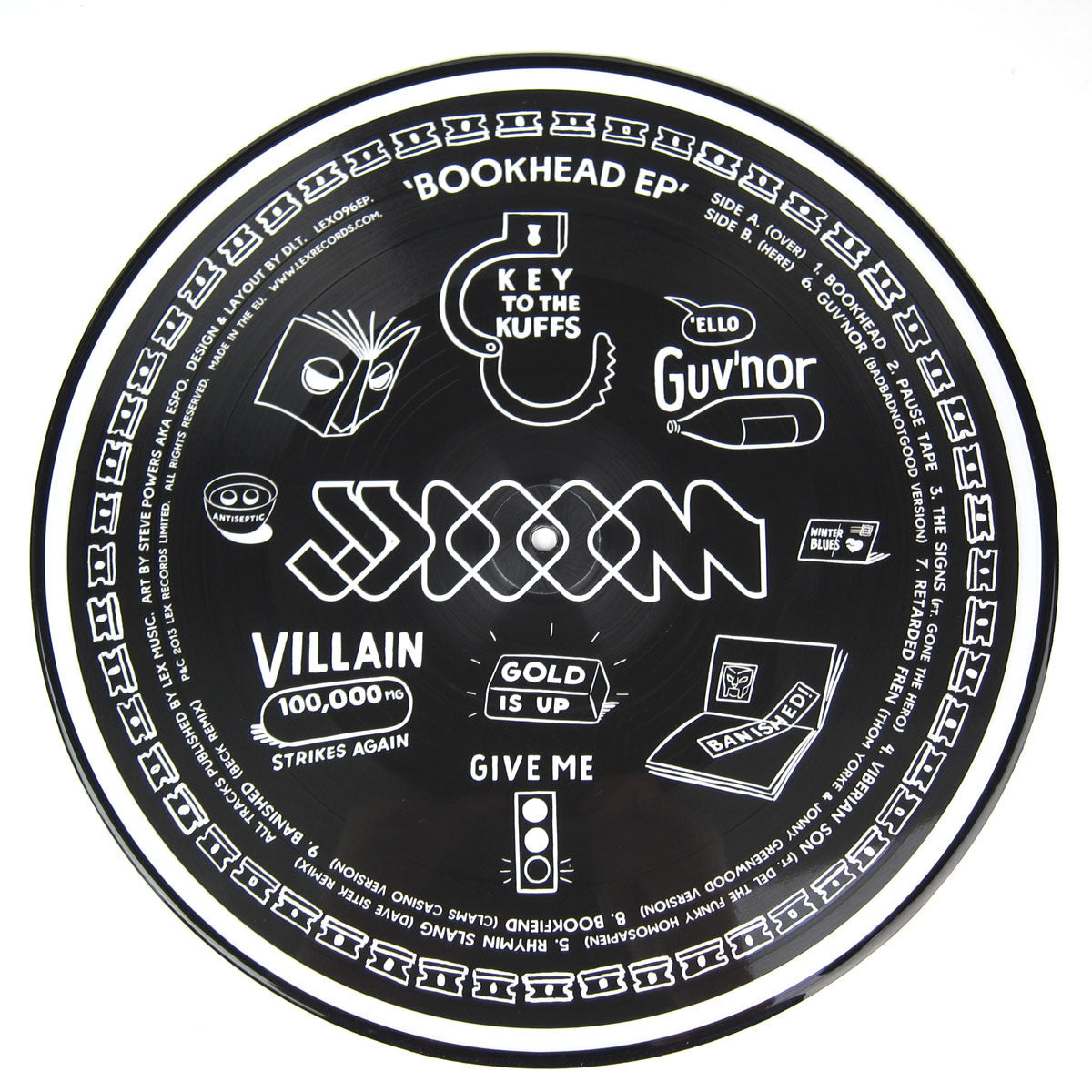 JJ Doom: Bookhead EP (Picture Disc, Free MP3) Vinyl LP 3