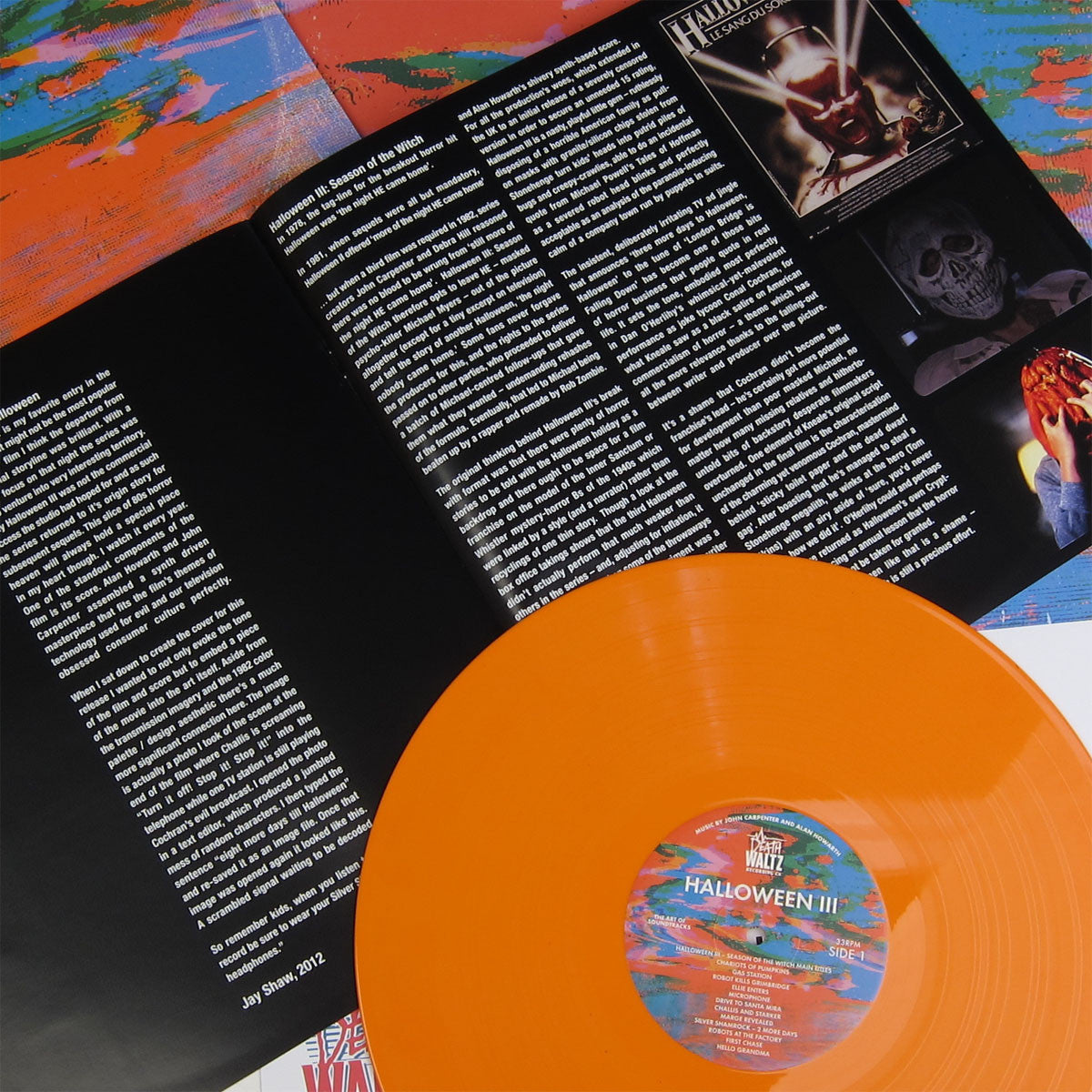 John Carpenter and Alan Howarth: Halloween III OST (Orange Vinyl) Vinyl LP detail 2