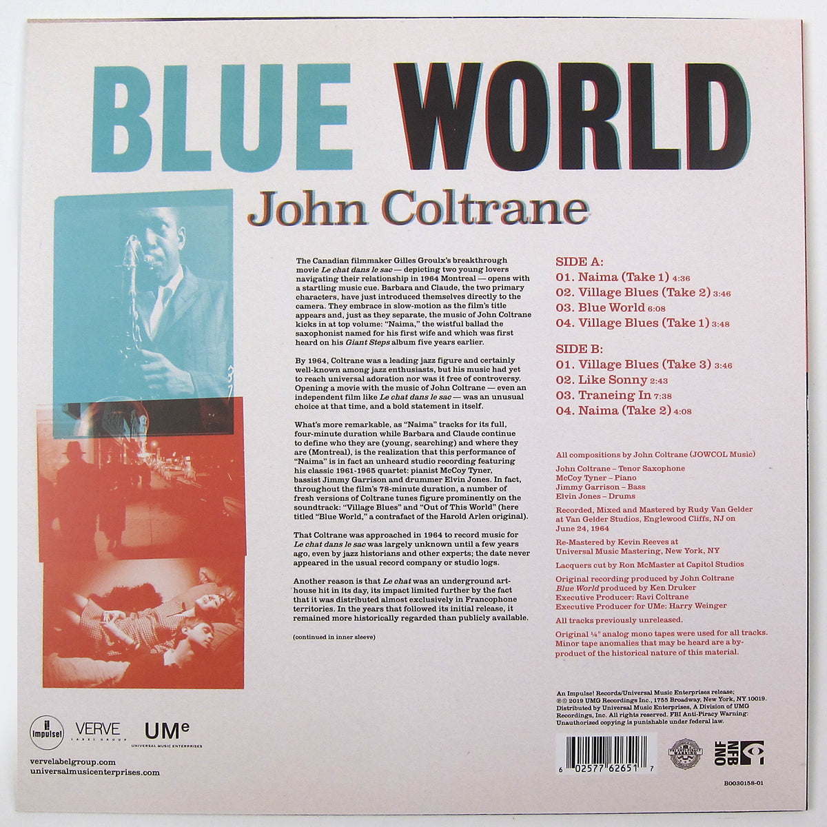 John Coltrane: Blue World Vinyl LP