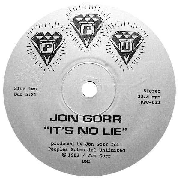 Jon Gorr: It's No Lie / It's No Lie Dub 12""