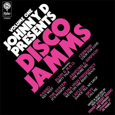 Johnny D: Presents Disco Jamms Vol. 1 2LP