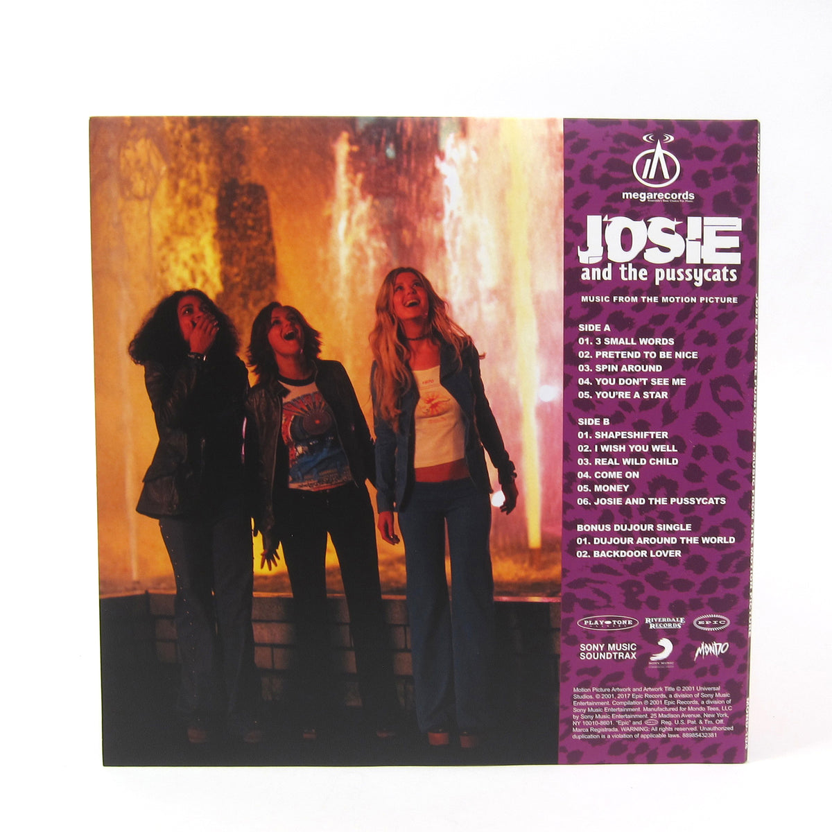 Josie And The Pussycats: Music From The Motion Picture (180g, Colored Vinyl) Vinyl LP+7""