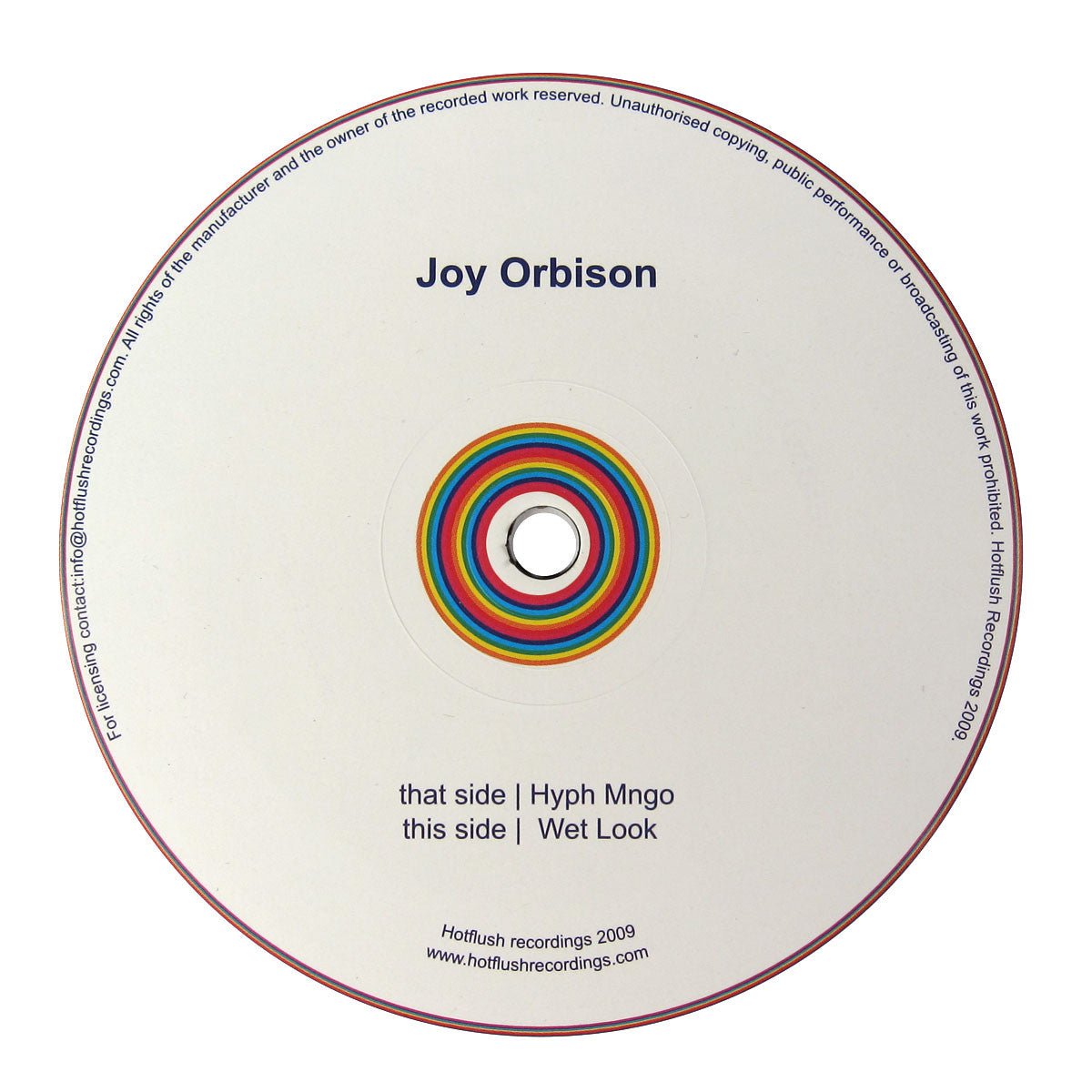 Joy Orbison: Hyph Mngo / Wet Look Vinyl 12