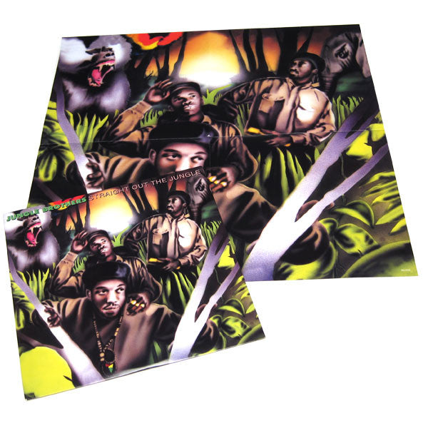 Jungle Brothers: Straight Out the Jungle (w/ Poster) 2LP poster