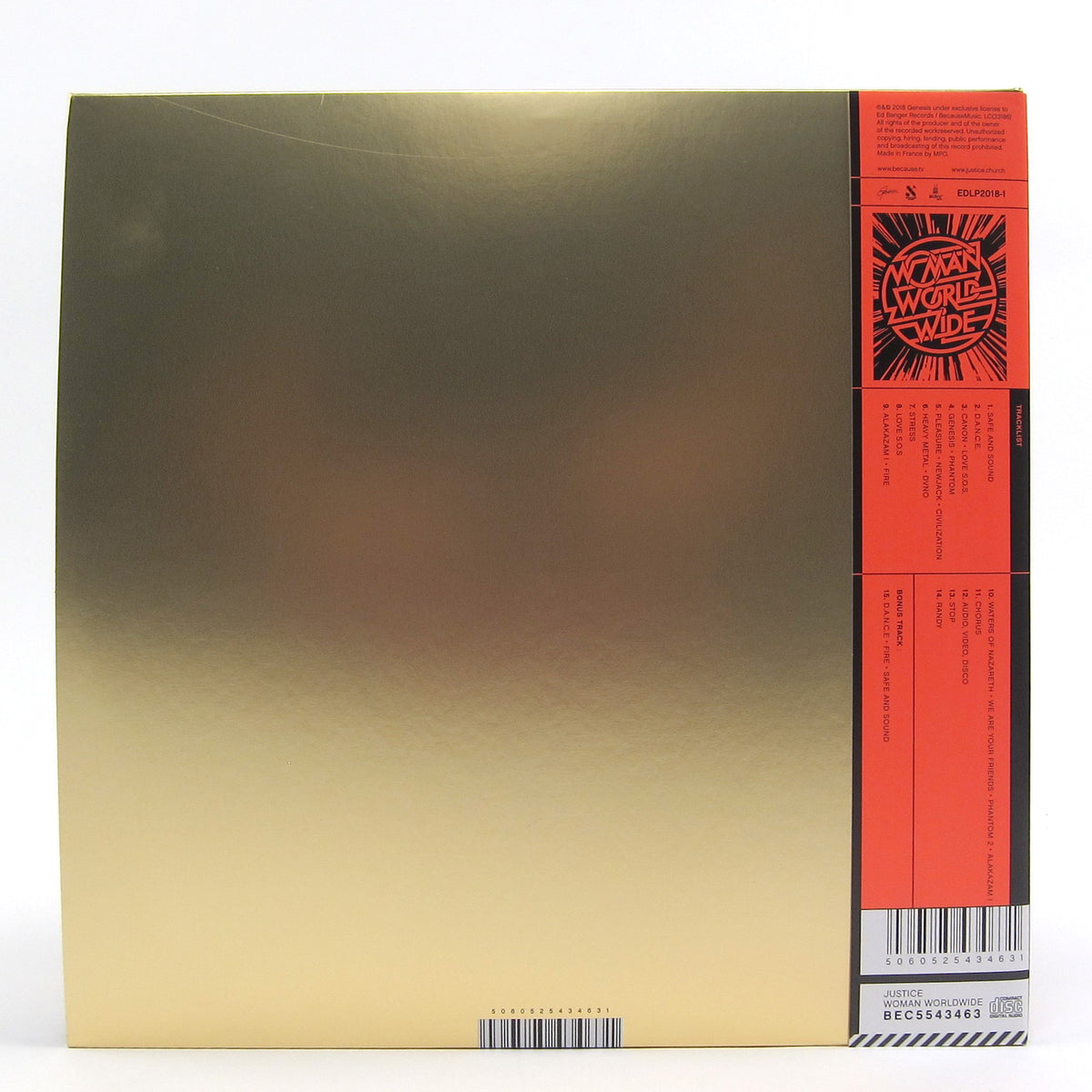 Justice: Woman Worldwide Vinyl 3LP+2CD