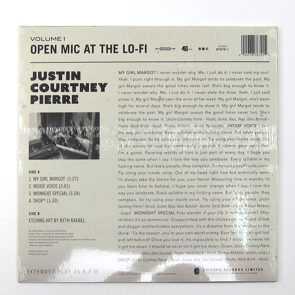 Justin Courtney Pierre: Open Mic At The Lo-Fi Vol.1 (Motion City Soundtrack) Vinyl LP (Record Store Day)