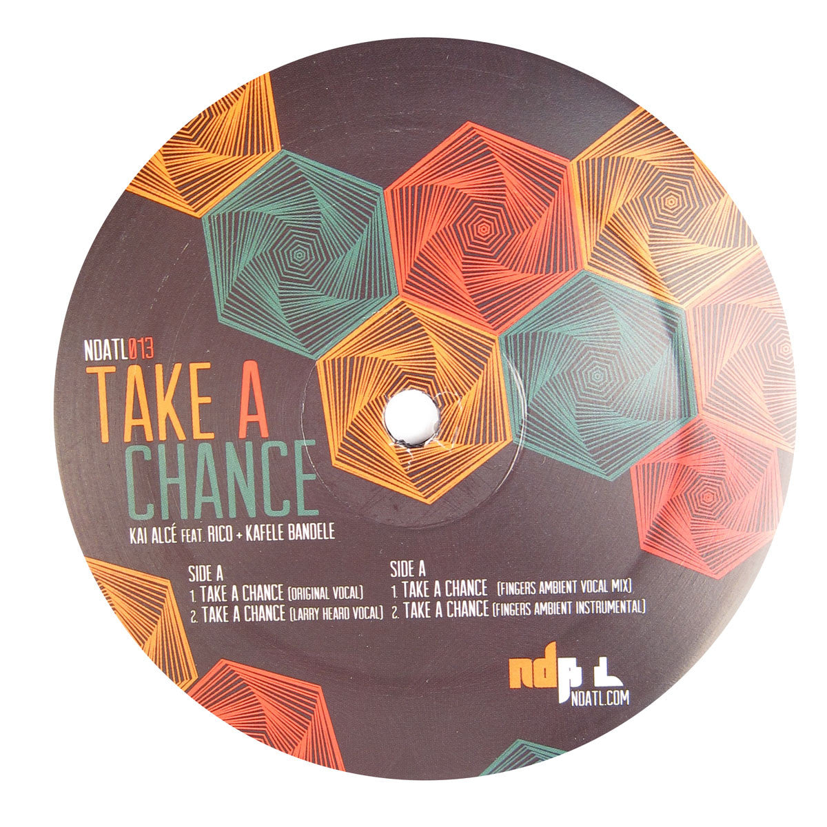 Kai Alce: Take A Chance (Larry Heard Remix) Vinyl 12""