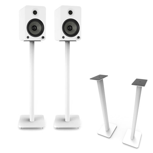 "Kanto: SP32PLW Speaker Stands for YU4 / YU6 / TUK (32"" Height / White / Pair)"