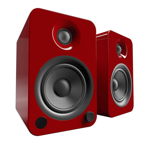 Kanto: YU4 Powered Bookshelf Speakers - Gloss Red (YU4GR)