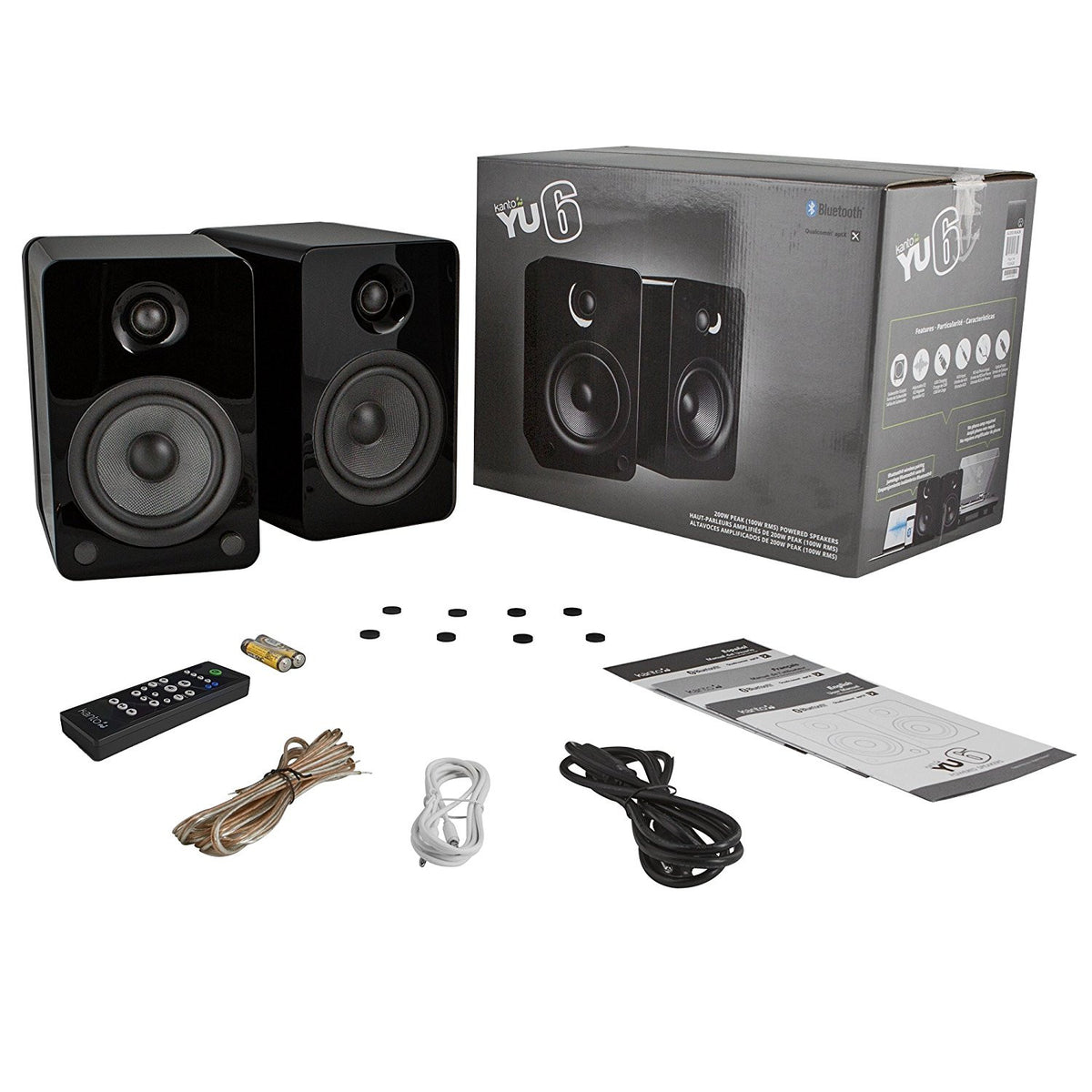 Kanto: YU6 Powered Bookshelf Speakers - Gloss Black (YU6GB)