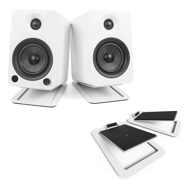 Kanto: S4 Speaker Stands for YU4 (White / Pair)