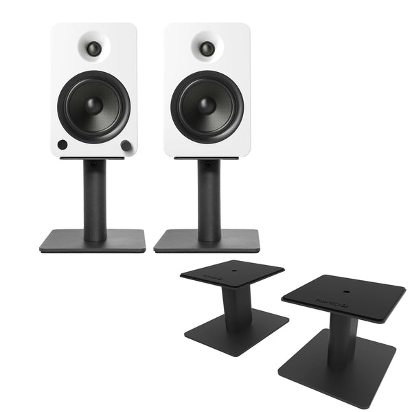 "Kanto: SP6HD Desktop Speaker Stands for YU6 / TUK (6"" Height / Black / Pair)"