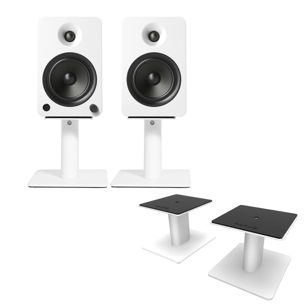 "Kanto: SP6HD Desktop Speaker Stands for YU6 / TUK (6"" Height / White / Pair)"