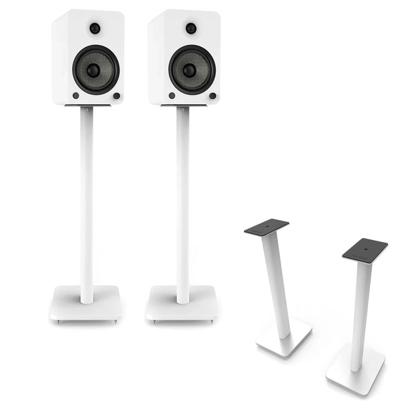 "Kanto: SP26PLW Speaker Stands for YU4 / YU6 / TUK (26"" Height / White / Pair)"