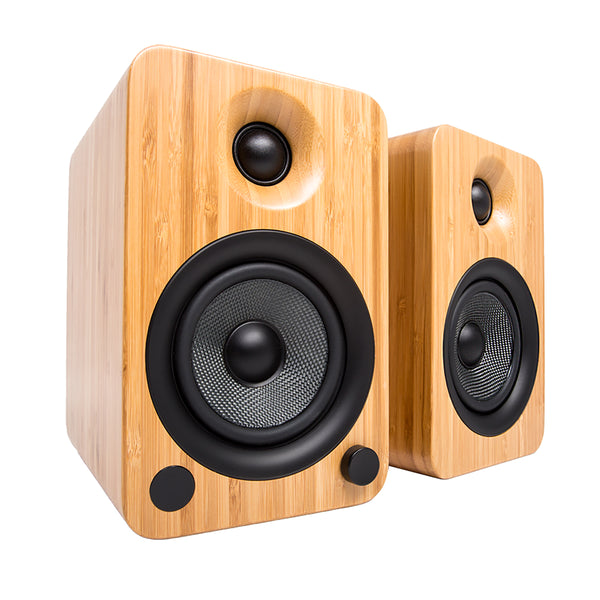 Kanto: YU4 Powered Bookshelf Speakers - Bamboo (YU4BAMBOO)
