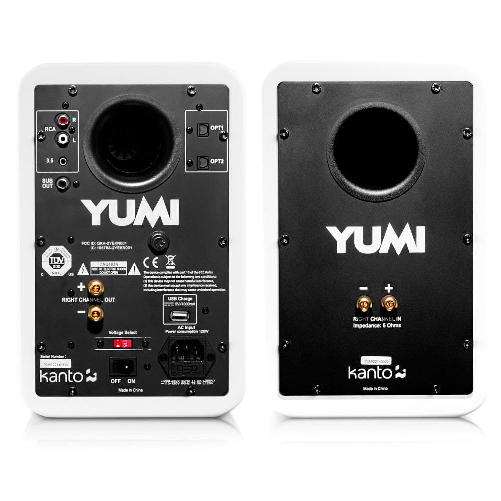 Kanto: Yumi Bookshelf Speakers - Gloss Black (YUMIBLKGL)