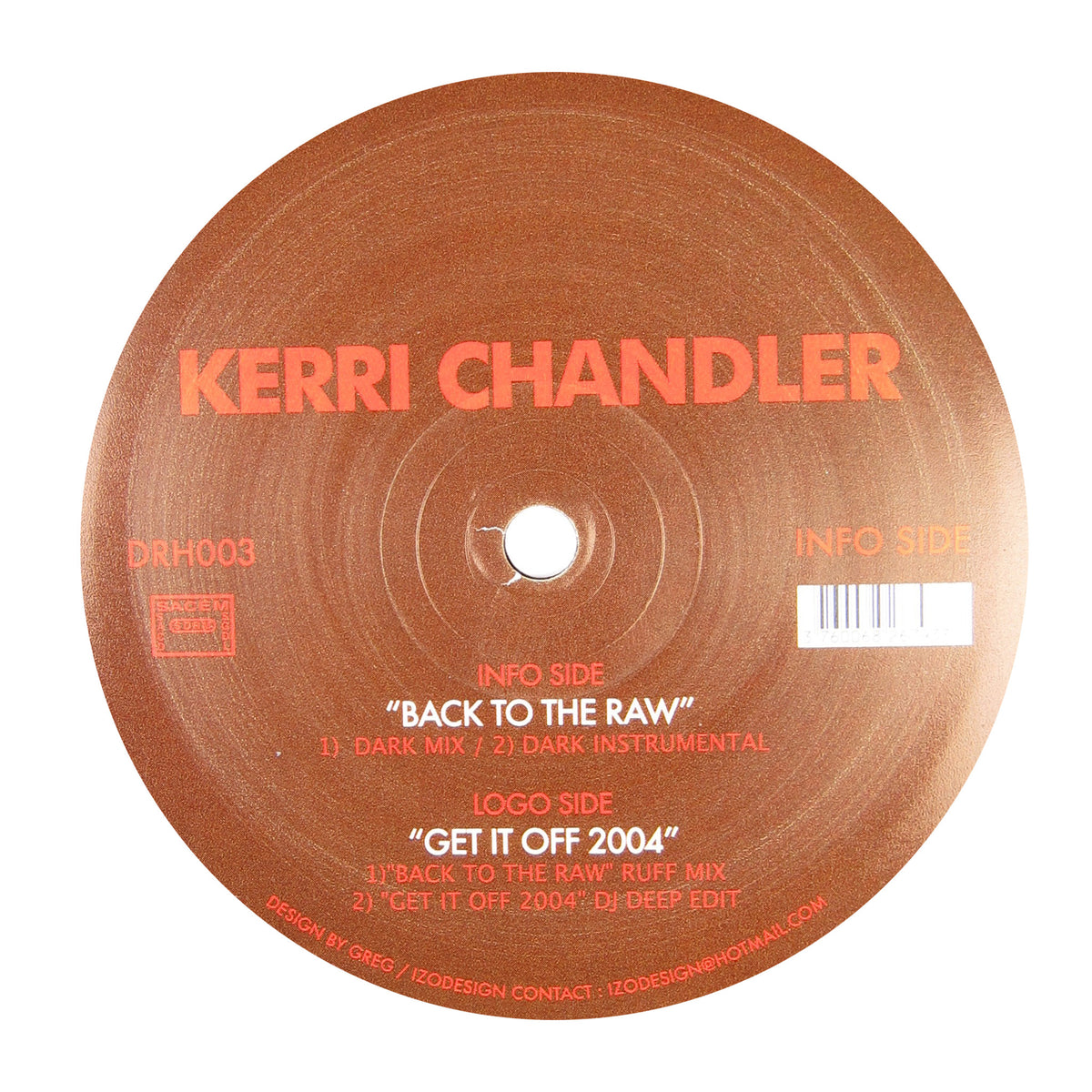 Kerri Chandler: Back To The Raw Vinyl 12""