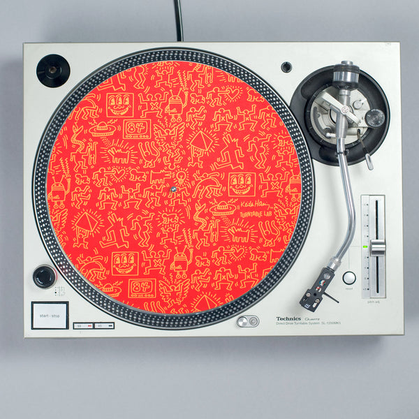 Turntable Lab: Keith Haring Slipmat Record Mat - Red turntable