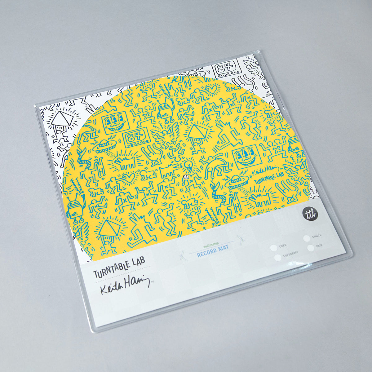 Turntable Lab: Keith Haring Slipmat Record Mat - Yellow packaging