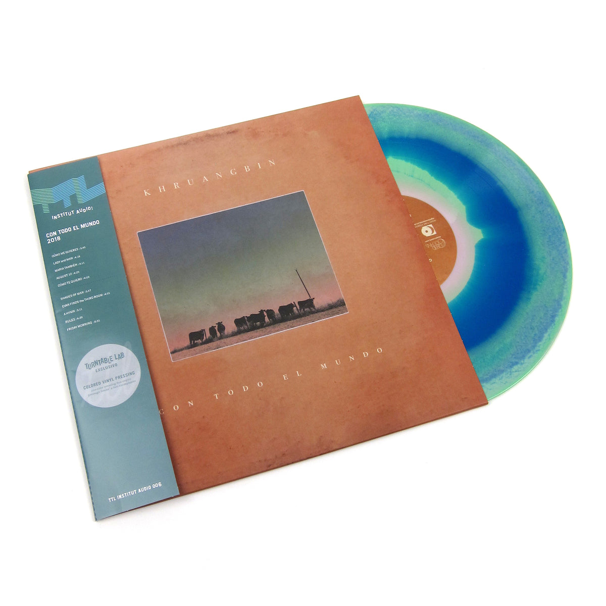 Khruangbin: Con Todo El Mundo (Swirl Colored Vinyl) Vinyl LP - Turntable Lab Exclusive on white