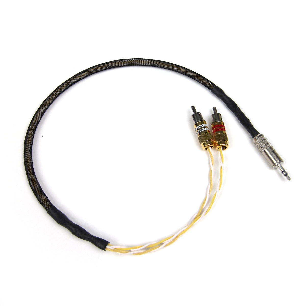Kimber Kable: GQMINI-CU Audio Interconnect Y-Cable (Dual RCA - 3.5mm)