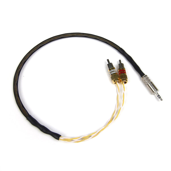Kimber Kable: GQMINI-CU Audio Interconnect Y-Cable (Dual RCA - 3.5mm) 0.5M