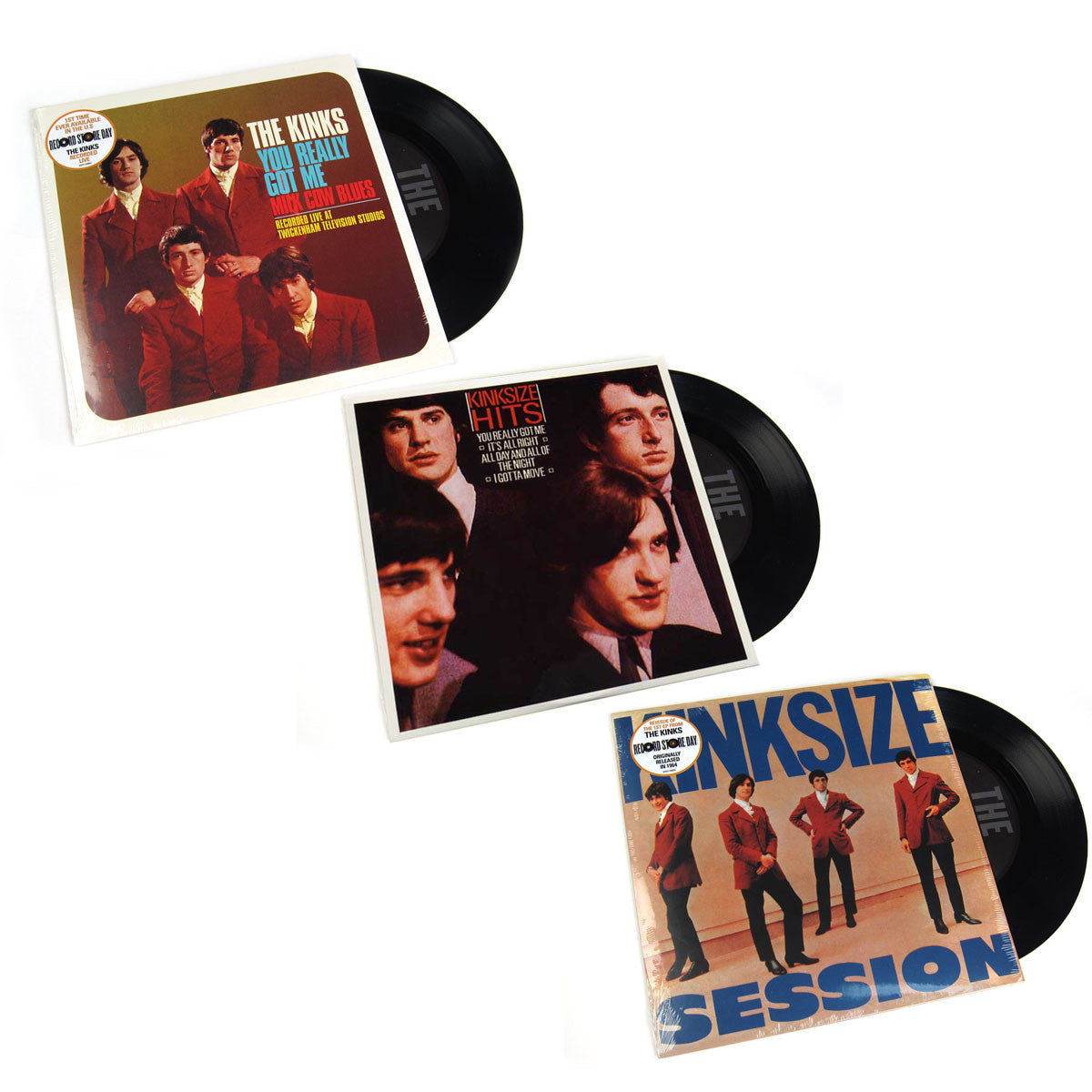 "The Kinks: Vinyl 7"" Pack (You Really Got Me, Kinksize Hits, Kinksize Session)"