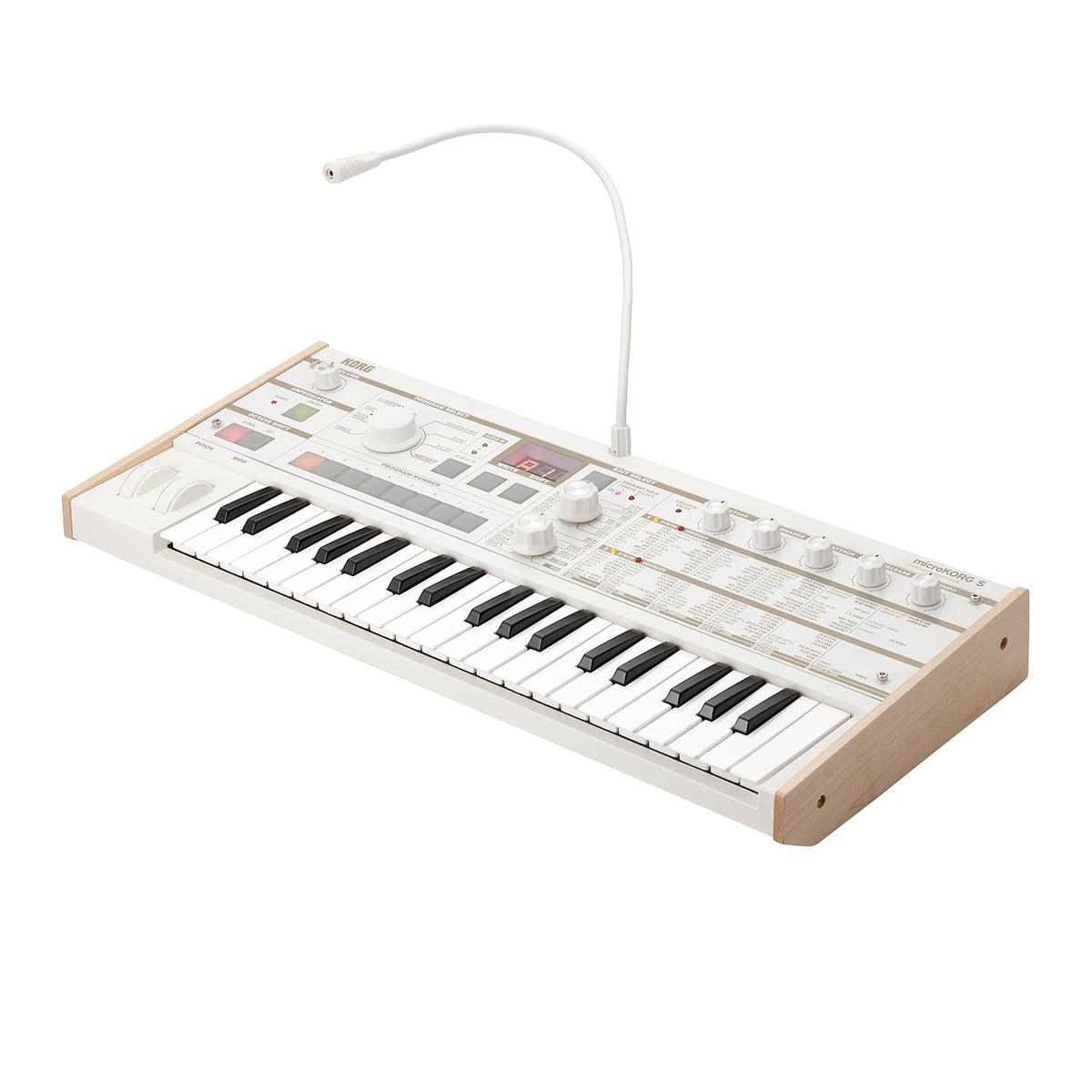korg microkorg s synthesizer white microkorgs. Black Bedroom Furniture Sets. Home Design Ideas