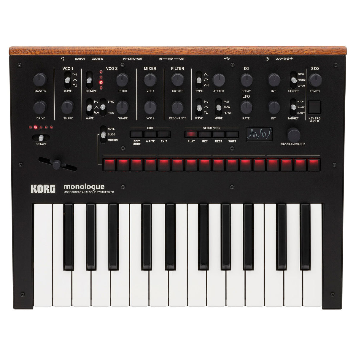 Korg: Monologue Monophonic Analog Synthesizer - Black