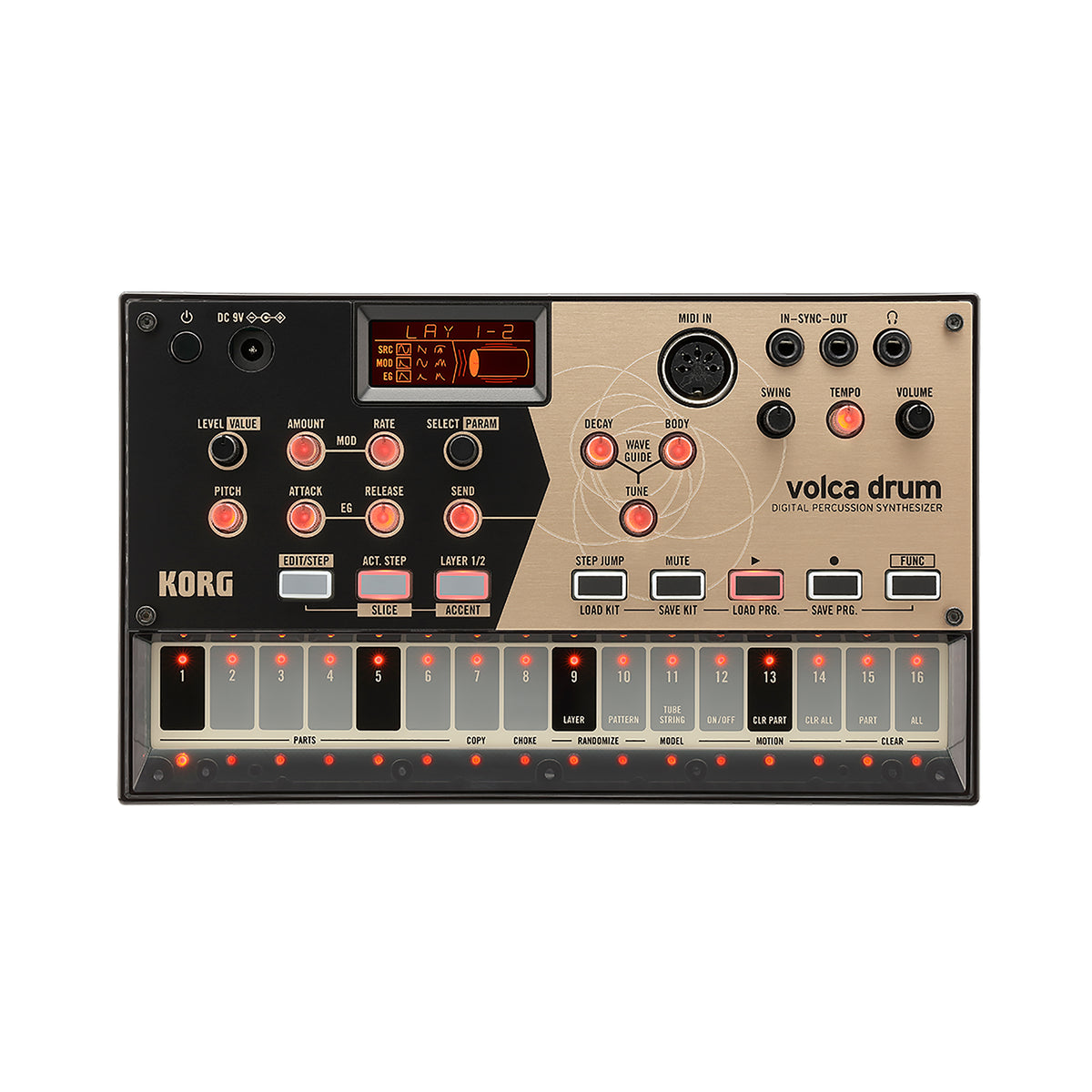 Korg: Volca Drum Digital Percussion Synthesizer (VOLCADRUM)