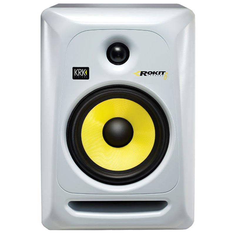 KRK: Rokit 6 Generation 3 Powered Studio Monitor (RP6G3) - White front