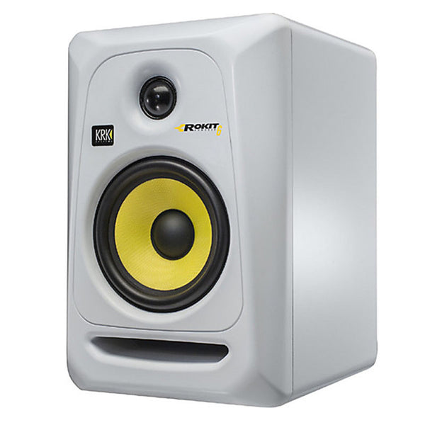 KRK: Rokit 6 Generation 3 Powered Studio Monitor (RP6G3) - White angle