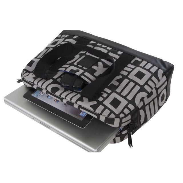 Hex: Hex x Haze Laptop Duffel - Black / Grey (HX1315) open