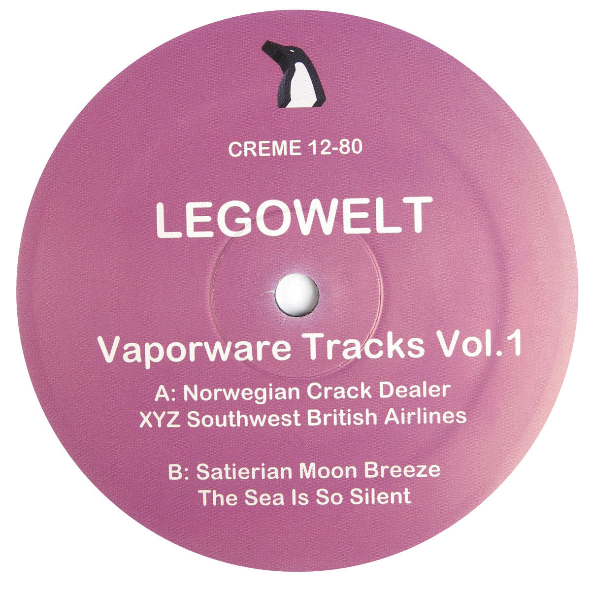 Legowelt: Vaporware Tracks Vol.1 Vinyl 12""