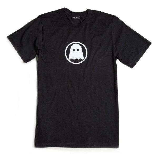 Ghostly International: Ghostly Logo Shirt - White On Black