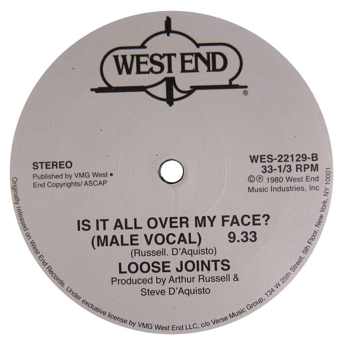 Loose Joints: Is It All Over My Face Vinyl 12""