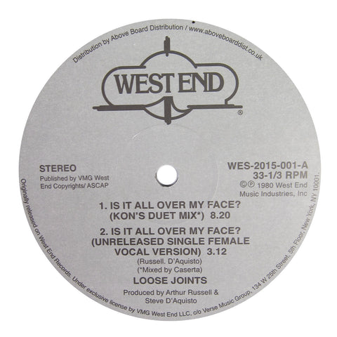 Loose Joints: Is It All Over My Face? (Kon Edit) Vinyl 12""