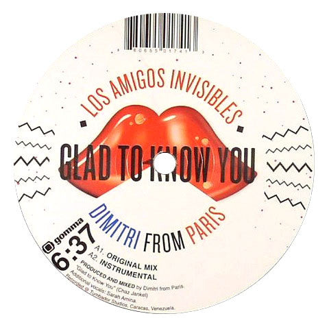 Los Amigos Invisibles & Dimitri From Paris: Glad To Know You 12""