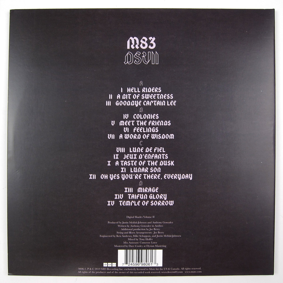 M83: DSVII - Digital Shades Vol.2 (Colored Vinyl) Vinyl 2LP