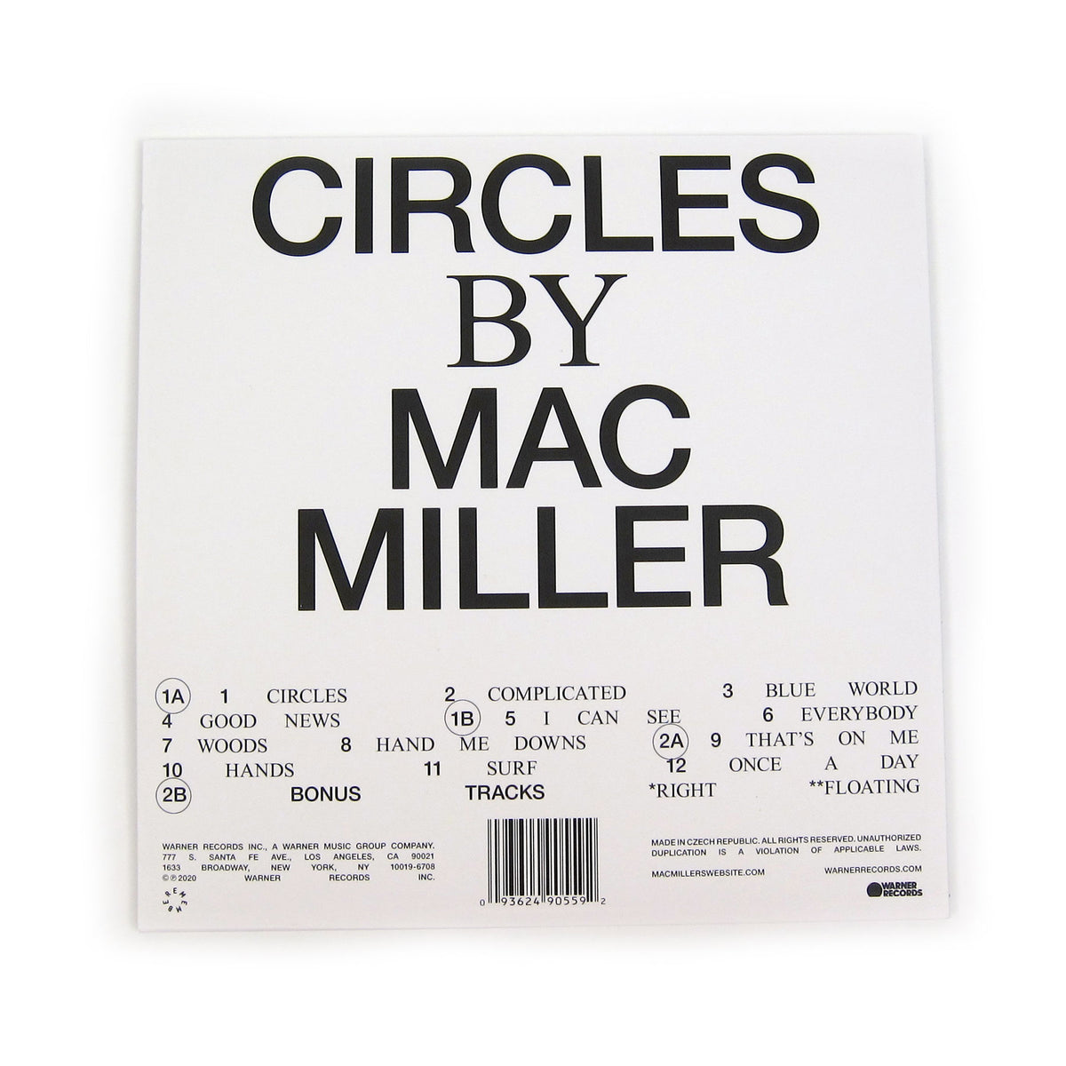 Mac Miller: Circles (Colored Vinyl) Vinyl 2LP