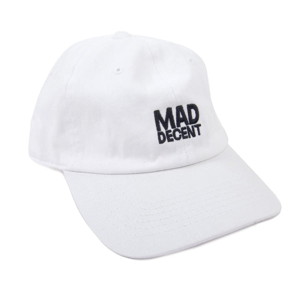 Mad Decent: Main Logo Dad Hat - White