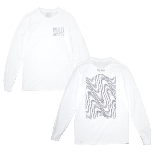 Mad Decent: Wavy Longsleeve Shirt - White