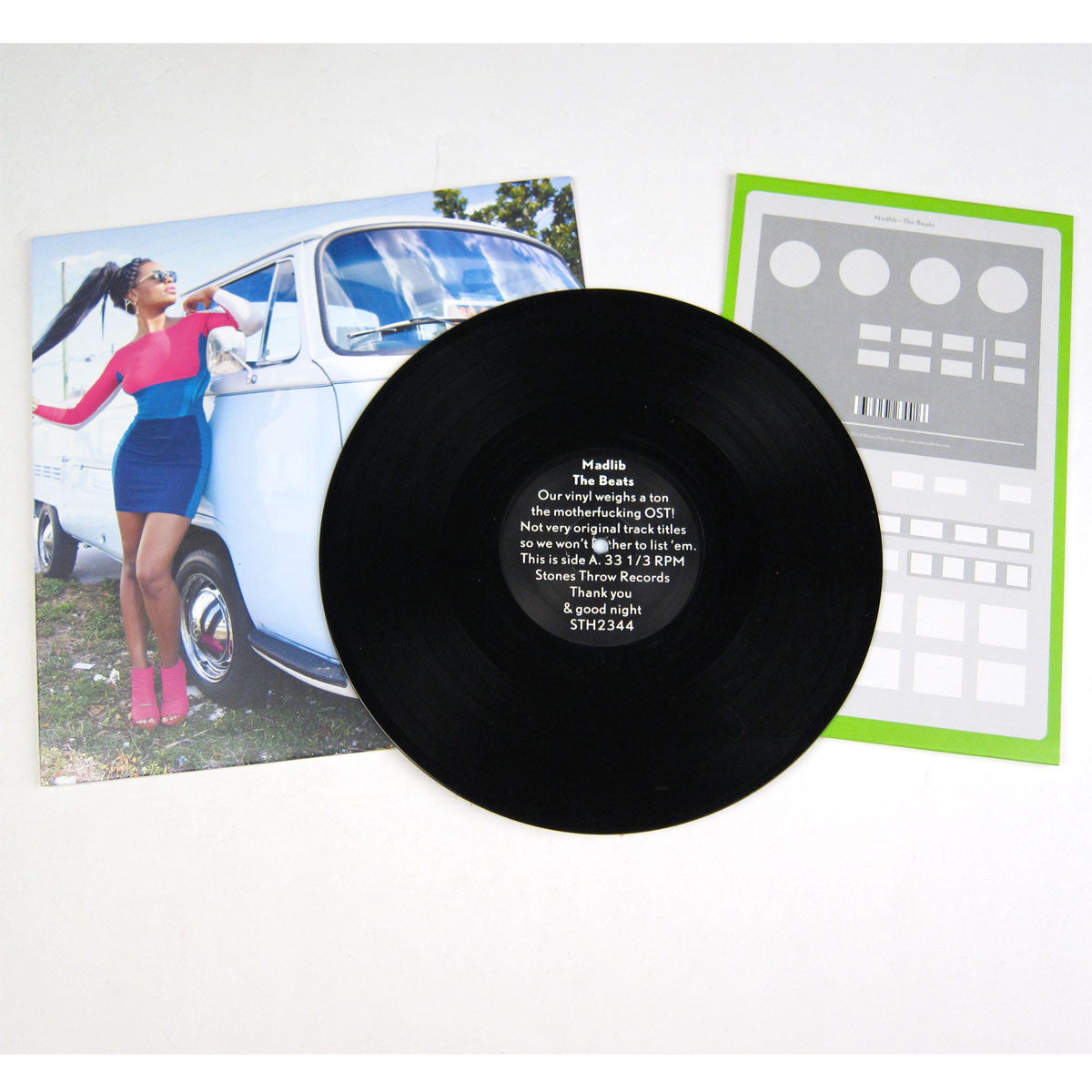 "Madlib: The Beats - Our Vinyl Weighs A Ton OST (Free MP3) Vinyl 10"" detail"