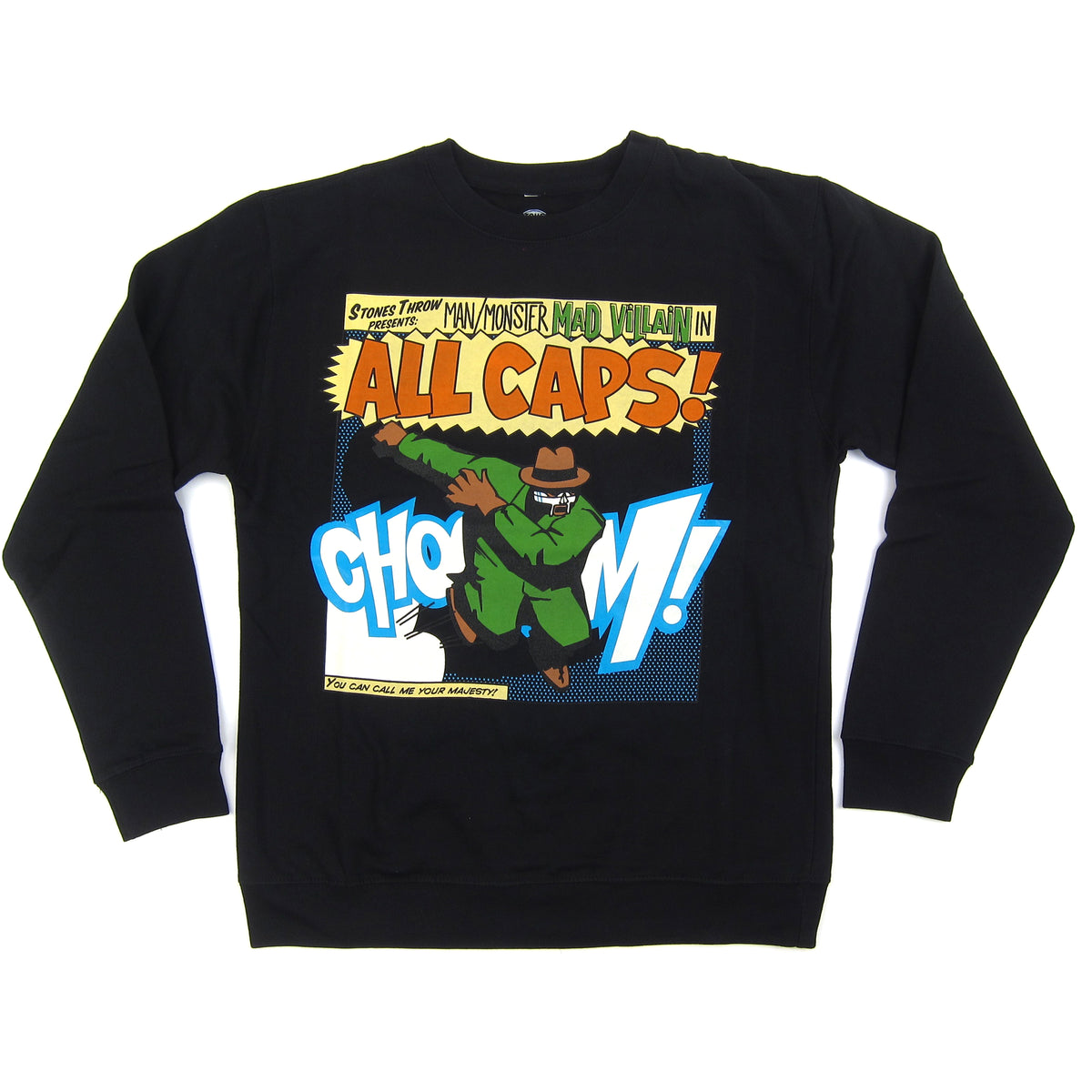 Stones Throw: Madvillain All Caps! Crewneck Sweatshirt