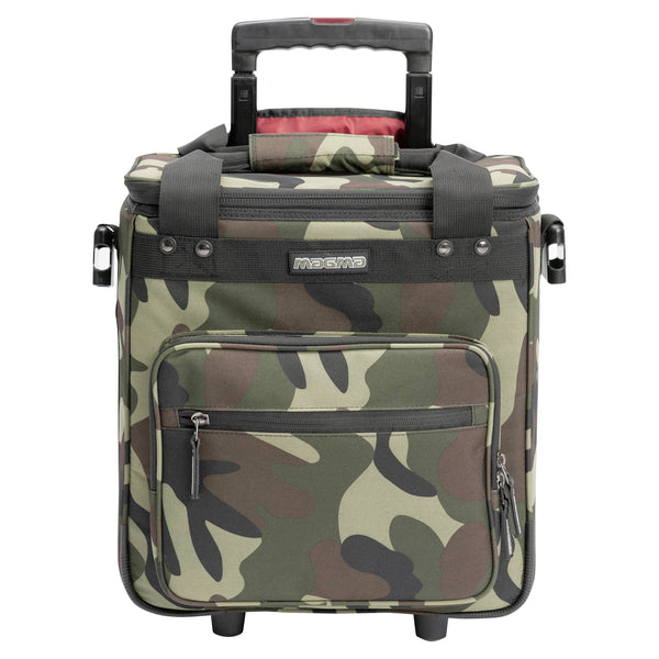 Magma: LP Record Trolley DJ Bag 50 - Camo-Green/Red (MGA44201)