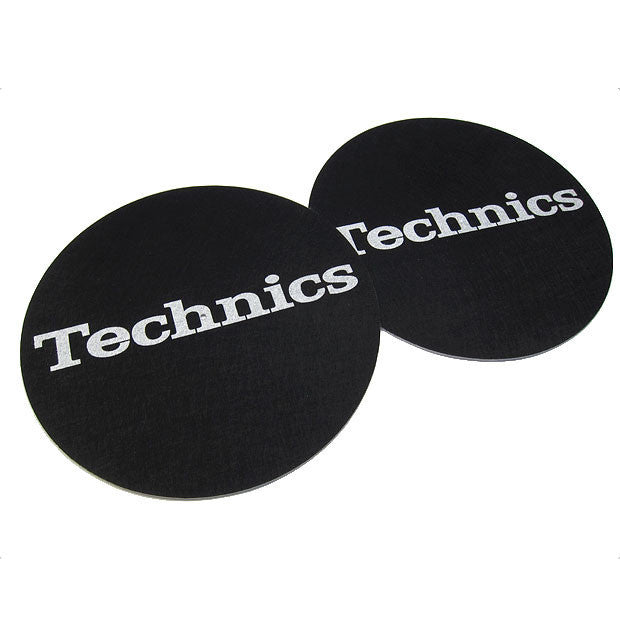 Technics: Slipmats - Black / Silver (Pair)