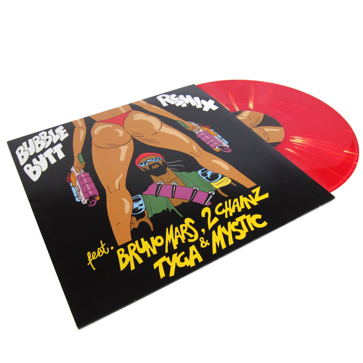 Major Lazer: Bubble Butt Remix (Bruno Mars, 2 Chainz, Tyga, Mystic)  12""