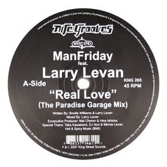 Man Friday feat. Larry Levan: Real Love Vinyl 12""